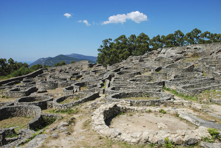 Iberian archaeological site of Santa Tecla in Pontevedra
