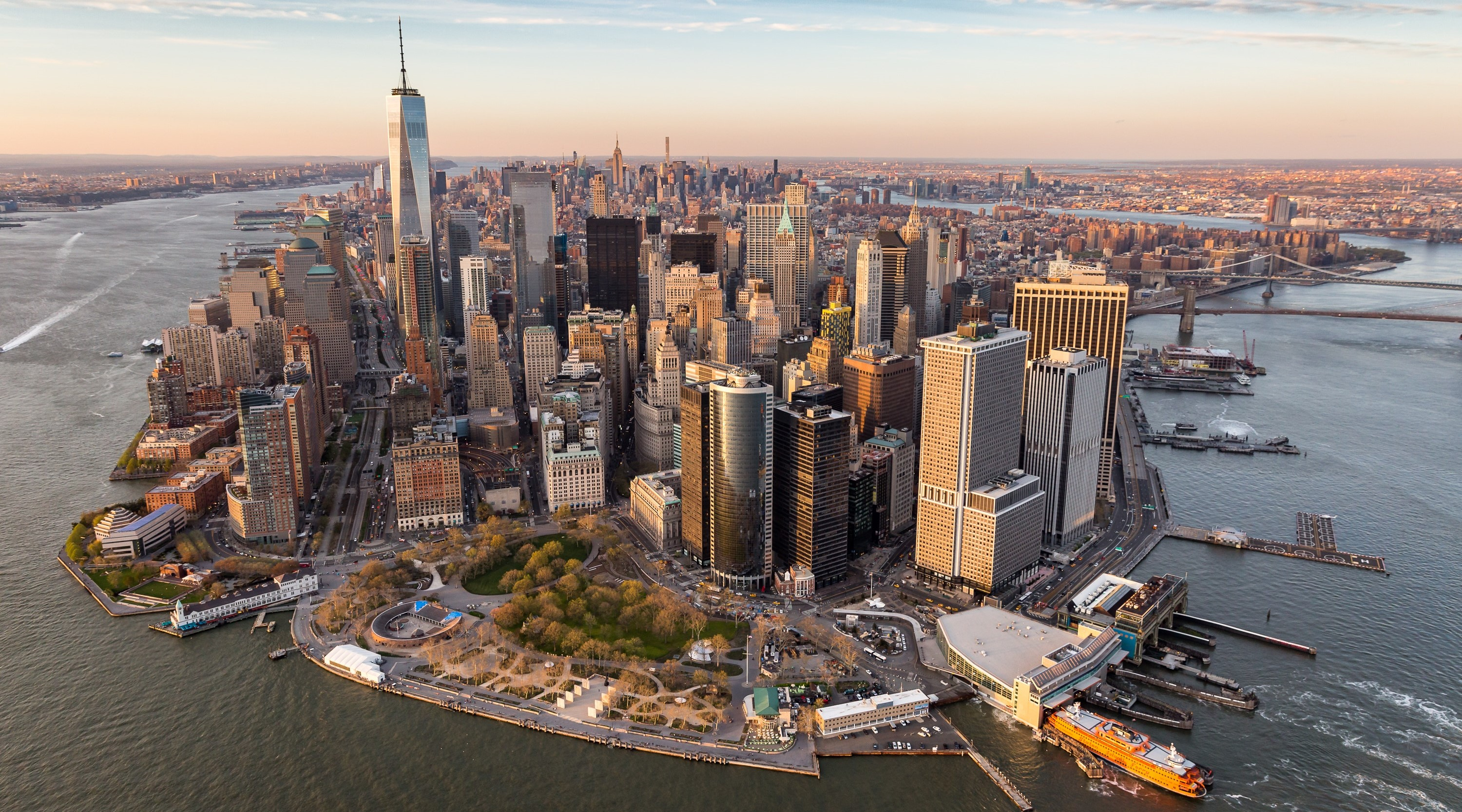 Viaggi low cost a New York: Manhattan desde el aire